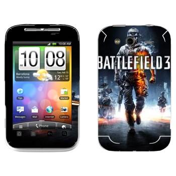 Виниловая наклейка «Battlefield 3» на телефон HTC Wildfire S
