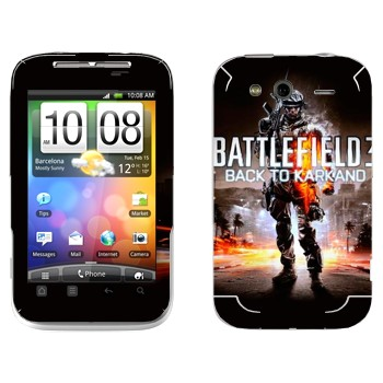 Виниловая наклейка «Battlefield: Back to Karkand» на телефон HTC Wildfire S