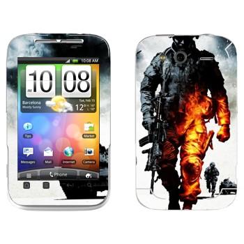 Виниловая наклейка «Battlefield: Bad Company 2» на телефон HTC Wildfire S