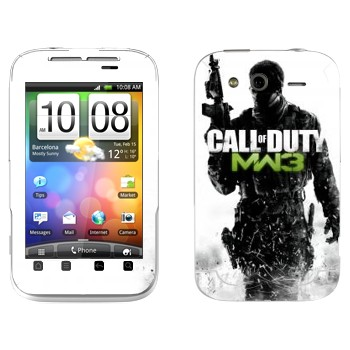 Виниловая наклейка «Call of Duty: Modern Warfare 3» на телефон HTC Wildfire S