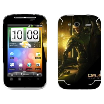 Виниловая наклейка «Deus Ex» на телефон HTC Wildfire S