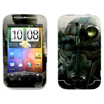 Виниловая наклейка «Fallout 3 — Убежище» на телефон HTC Wildfire S