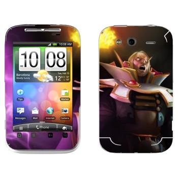 Виниловая наклейка «Invoker - Dota 2» на телефон HTC Wildfire S