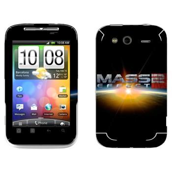 Виниловая наклейка «Mass effect логотип» на телефон HTC Wildfire S