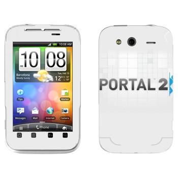 Виниловая наклейка «Portal 2 логотип на белом фоне» на телефон HTC Wildfire S