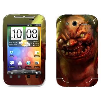 Виниловая наклейка «Pudge - Dota 2» на телефон HTC Wildfire S