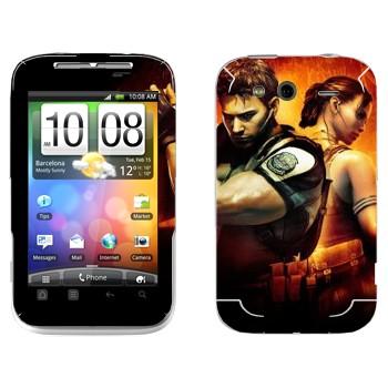 Виниловая наклейка «Resident Evil игра» на телефон HTC Wildfire S