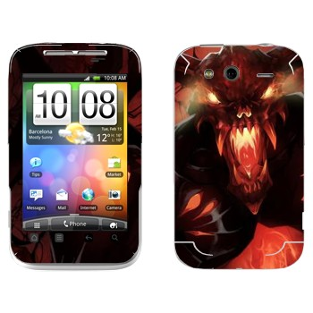 Виниловая наклейка «Shadow Fiend - Dota 2» на телефон HTC Wildfire S