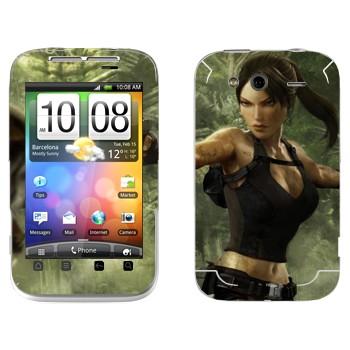 Виниловая наклейка «Tomb Raider» на телефон HTC Wildfire S