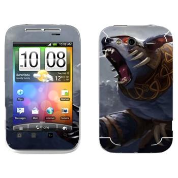 Виниловая наклейка «Ursa  - Dota 2» на телефон HTC Wildfire S