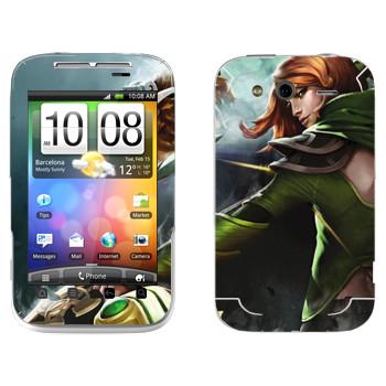 Виниловая наклейка «Windranger - Dota 2» на телефон HTC Wildfire S