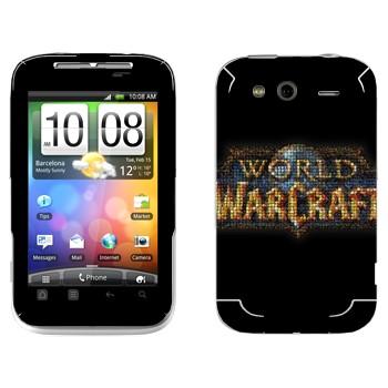 Виниловая наклейка «World of Warcraft логотип» на телефон HTC Wildfire S