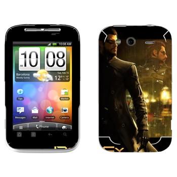 Виниловая наклейка «Адам Дженсен - Deus Ex 3» на телефон HTC Wildfire S