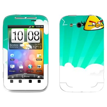 Виниловая наклейка «Чак - Angry Birds» на телефон HTC Wildfire S
