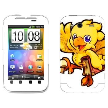 Виниловая наклейка «Чокобо - Final Fantasy» на телефон HTC Wildfire S