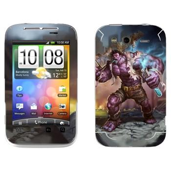 Виниловая наклейка «Доктор Мундо - Сумасшедший из Зауна» на телефон HTC Wildfire S
