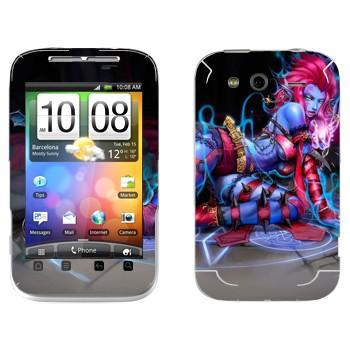 Виниловая наклейка «Эвелина - Оставляющая Вдов» на телефон HTC Wildfire S