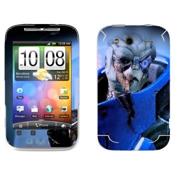 Виниловая наклейка «Гаррус Вакариан - Mass effect» на телефон HTC Wildfire S