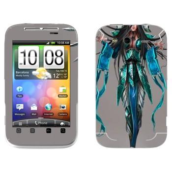 Виниловая наклейка «Ирелия - Воля клинков» на телефон HTC Wildfire S