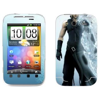 Виниловая наклейка «Клауд Страйф - Final Fantasy» на телефон HTC Wildfire S