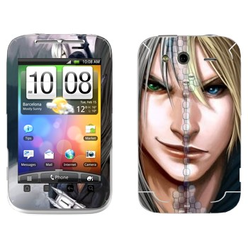 Виниловая наклейка «Клауд vs Сефирот - Final Fantasy» на телефон HTC Wildfire S