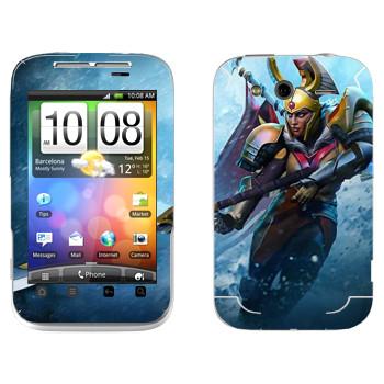 Виниловая наклейка «Командир Легиона - Dota 2» на телефон HTC Wildfire S