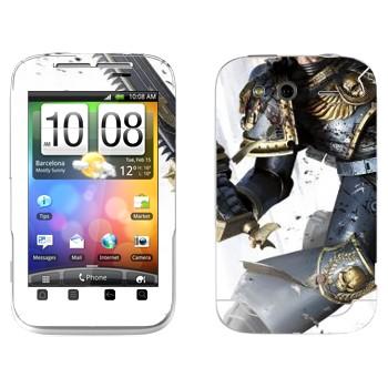 Виниловая наклейка «Космический пехотинец - Warhammer 40k» на телефон HTC Wildfire S