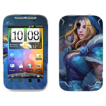 Виниловая наклейка «Кристал Мэйден - Dota 2» на телефон HTC Wildfire S