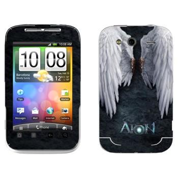 Виниловая наклейка «Крылья ангела - Aion» на телефон HTC Wildfire S