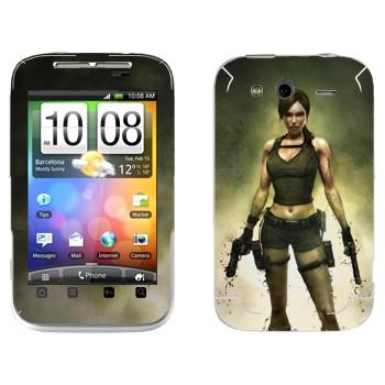 Виниловая наклейка «Лара Крофт - Tomb Raider» на телефон HTC Wildfire S