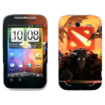 Виниловая наклейка «Логотипы с героями - Dota 2» на телефон HTC Wildfire S