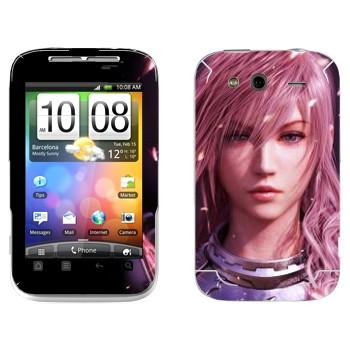 Виниловая наклейка «Молния - Final Fantasy» на телефон HTC Wildfire S