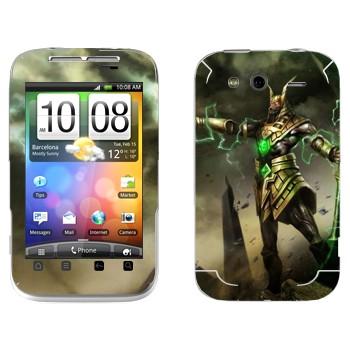 Виниловая наклейка «Насус - Хранитель песков» на телефон HTC Wildfire S