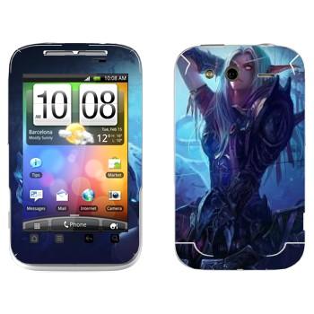 Виниловая наклейка «Ночной Эльф - World of Warcraft» на телефон HTC Wildfire S