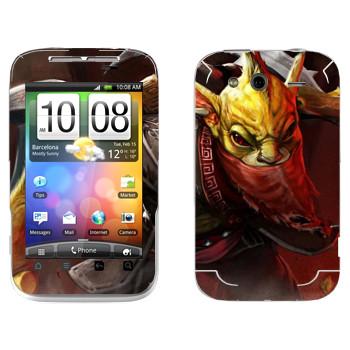 Виниловая наклейка «Охотник за головами - Dota 2» на телефон HTC Wildfire S