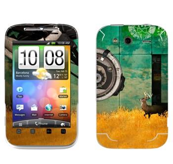 Виниловая наклейка «Олень - Portal 2» на телефон HTC Wildfire S