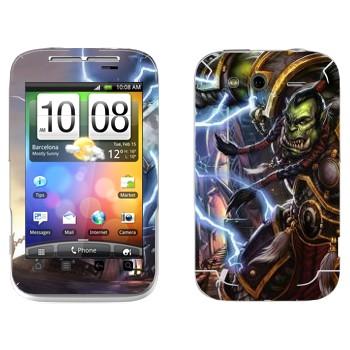 Виниловая наклейка «Орк - World of Warcraft» на телефон HTC Wildfire S