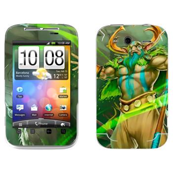 Виниловая наклейка «Пророк природы - Dota 2» на телефон HTC Wildfire S