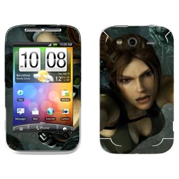 Виниловая наклейка «Расхитительница гробниц» на телефон HTC Wildfire S