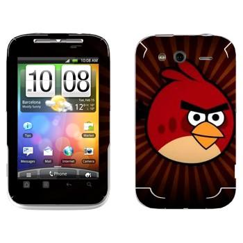 Виниловая наклейка «Рэд - Angry Birds» на телефон HTC Wildfire S