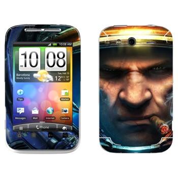 Виниловая наклейка «Тайкус Финдли - Star Craft 2» на телефон HTC Wildfire S