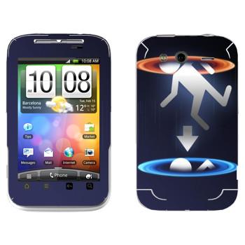Виниловая наклейка «Телепортация - Portal 2» на телефон HTC Wildfire S
