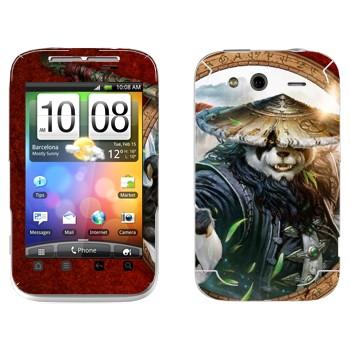 Виниловая наклейка «Туманы Пандарии» на телефон HTC Wildfire S