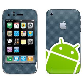 Виниловая наклейка «Android логотип» на телефон Apple iPhone 3G