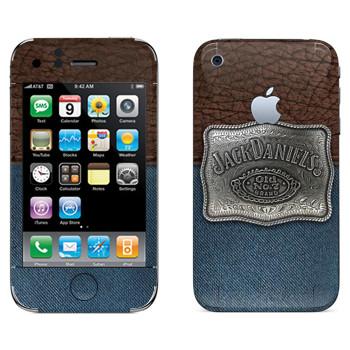 Виниловая наклейка «Jack Daniels эмблема на джинсе и коже» на телефон Apple iPhone 3G