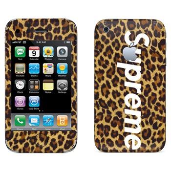 Виниловая наклейка «Supreme леопард» на телефон Apple iPhone 3G