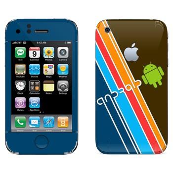 Виниловая наклейка «Андроид» на телефон Apple iPhone 3G