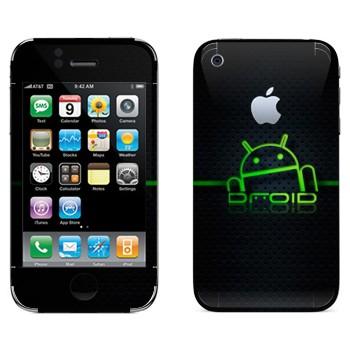 Виниловая наклейка «Дроид Android» на телефон Apple iPhone 3G