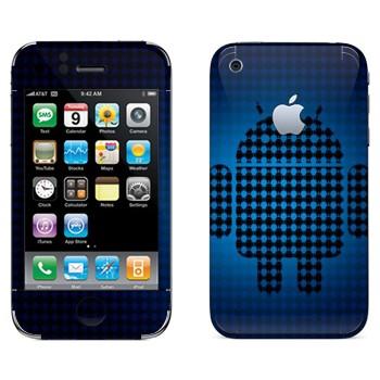 Виниловая наклейка «Эмблема Android из маленьких андроидов» на телефон Apple iPhone 3G