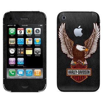 Виниловая наклейка «Harley-Davidson Motor Cycles» на телефон Apple iPhone 3G